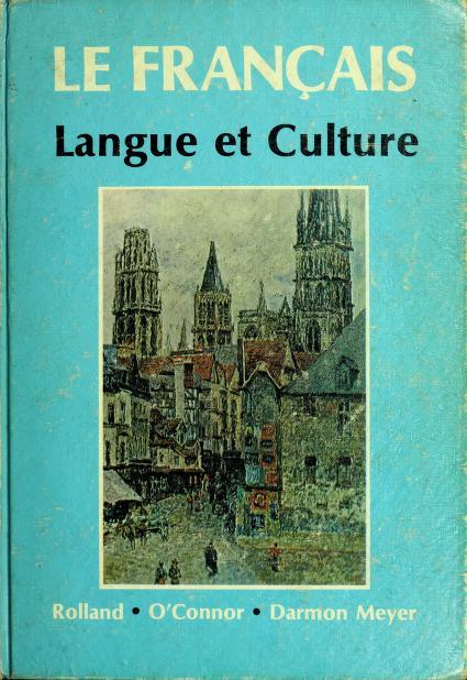Le français; langue et culture by Barbara Rolland